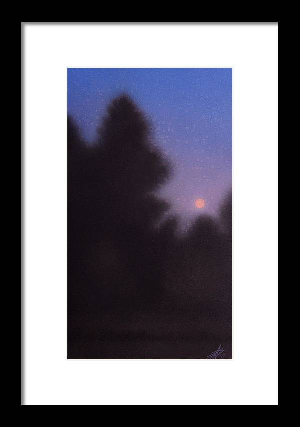 Moon Framed Print featuring the painting August Moon by Robin Street-Morris