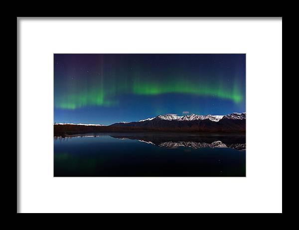 Framed Print featuring the photograph Auroras by Richard Jack-James