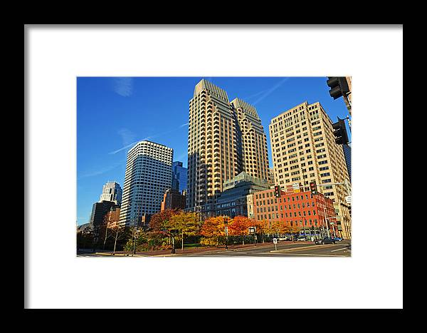 Boston Framed Print featuring the photograph Autumn In Boston by Toby McGuire