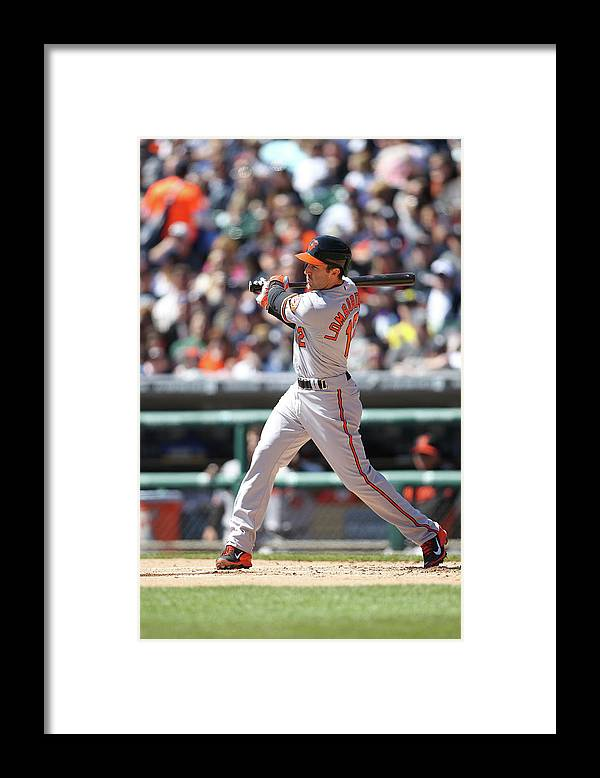 American League Baseball Framed Print featuring the photograph Baltimore Orioles V. Detroit Tigers by John Grieshop