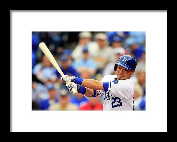 American League Baseball Framed Print featuring the photograph Baltimore Orioles V Kansas City Royals by Jamie Squire