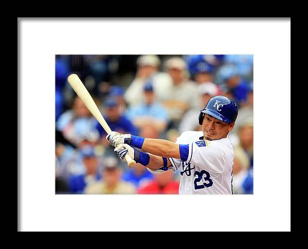 American League Baseball Framed Print featuring the photograph Baltimore Orioles V Kansas City Royals 2 by Jamie Squire