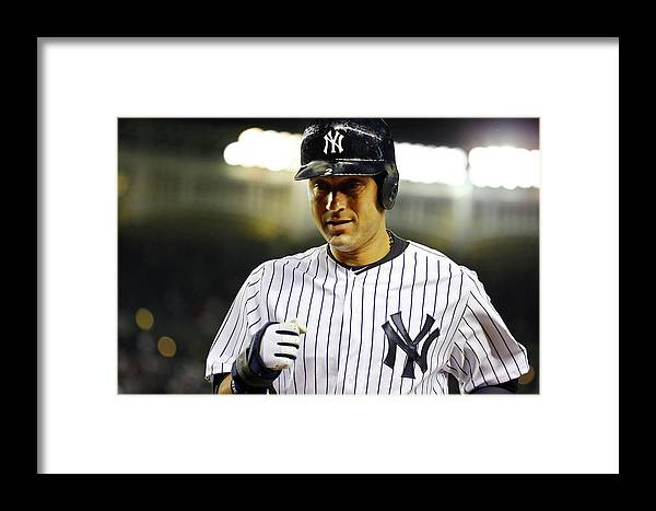 People Framed Print featuring the photograph Baltimore Orioles V New York Yankees 2 by Al Bello