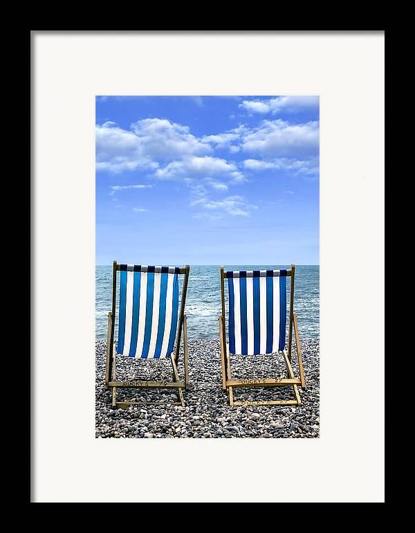 Beach Framed Print featuring the photograph Beach Chairs by Joana Kruse
