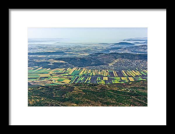 Israel Framed Print featuring the photograph Beit Netofa Valley, Galilee by Ofir Ben Tov