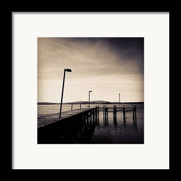 Black And White Framed Print featuring the photograph 2 Bird Dock by CML Brown