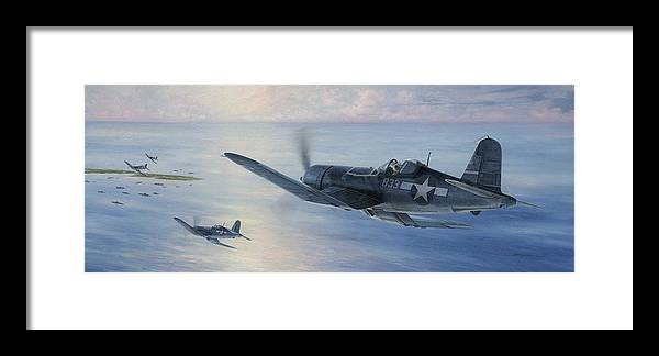 F4u Framed Print featuring the painting Black Sheep Patrol by Wade Meyers