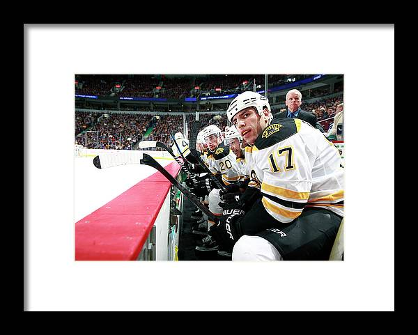 National Hockey League Framed Print featuring the photograph Boston Bruins V Vancouver Canucks by Jeff Vinnick