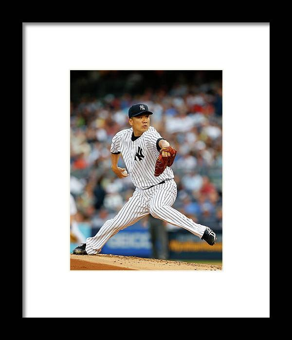 American League Baseball Framed Print featuring the photograph Boston Red Sox V New York Yankees 2 by Rich Schultz