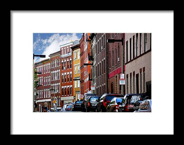 House Framed Print featuring the photograph Boston Street by Elena Elisseeva