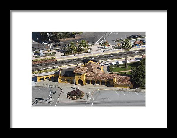 Rail Framed Print featuring the photograph Burlingame Train Station by Scott Lenhart