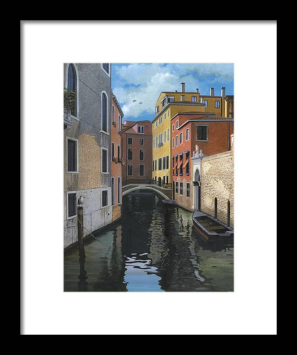 Venice Framed Print featuring the painting Canal Rhapsody by Harold Shull