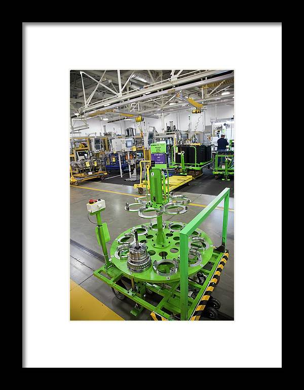 Equipment Framed Print featuring the photograph Car Transmission Assembly Line by Jim West