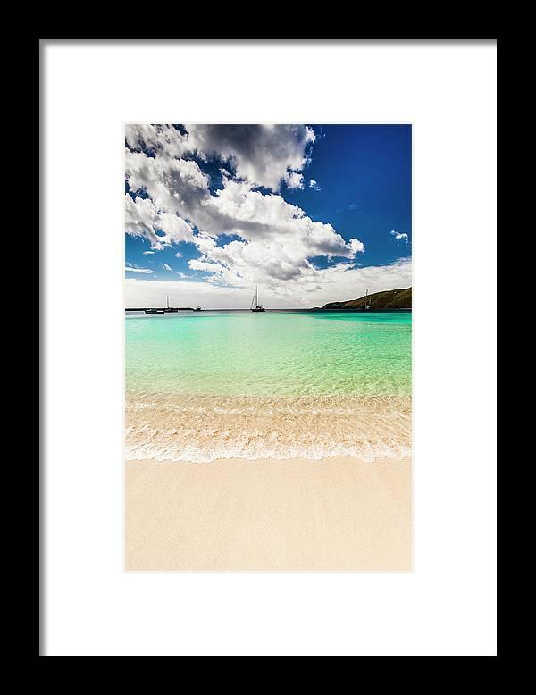 Tropical Tree Framed Print featuring the photograph Caribbean Beach by Guvendemir