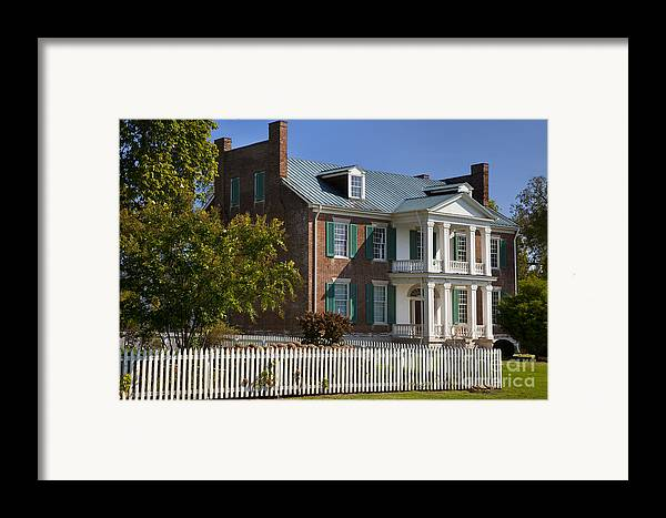 Historic Framed Print featuring the photograph Carnton Plantation by Brian Jannsen