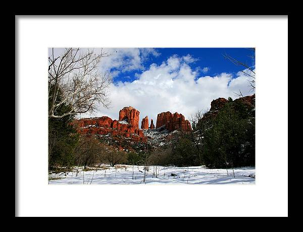 Arizona Framed Print featuring the photograph Cathedral Chill by Miles Stites