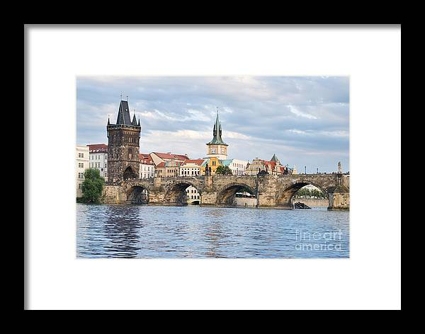 Charles Framed Print featuring the photograph Charles Bridge In Prague by Sarka Olehlova