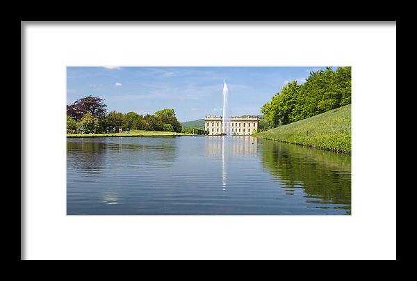 Stately Homes Historic Houses Framed Print featuring the photograph Chatsworth House by Moments In Time Photographics