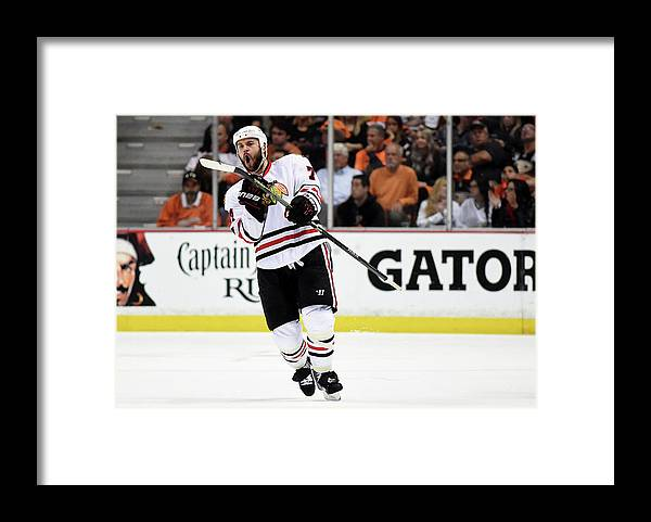 Playoffs Framed Print featuring the photograph Chicago Blackhawks V Anaheim Ducks - by Harry How