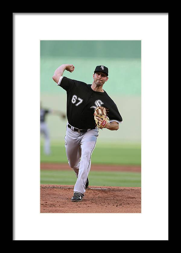 American League Baseball Framed Print featuring the photograph Chicago White Sox V Kansas City Royals 2 by Ed Zurga