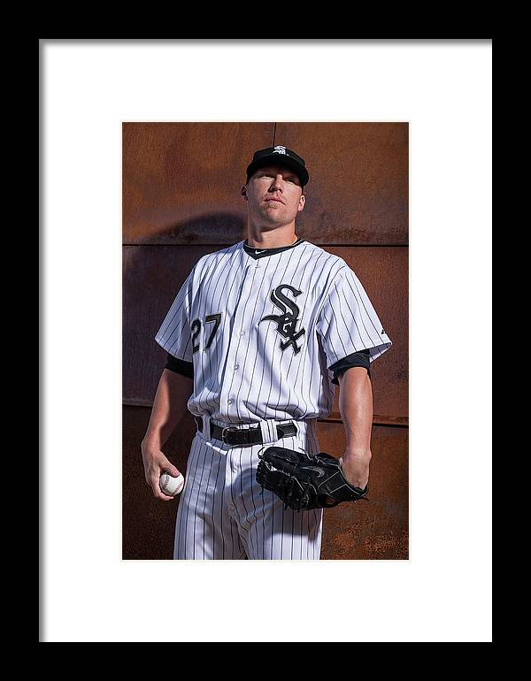 Media Day Framed Print featuring the photograph Chicago Whte Sox Photo Day 2 by Rob Tringali