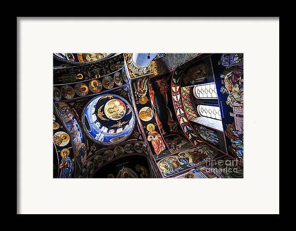 Mosaic Framed Print featuring the photograph Church Interior by Elena Elisseeva