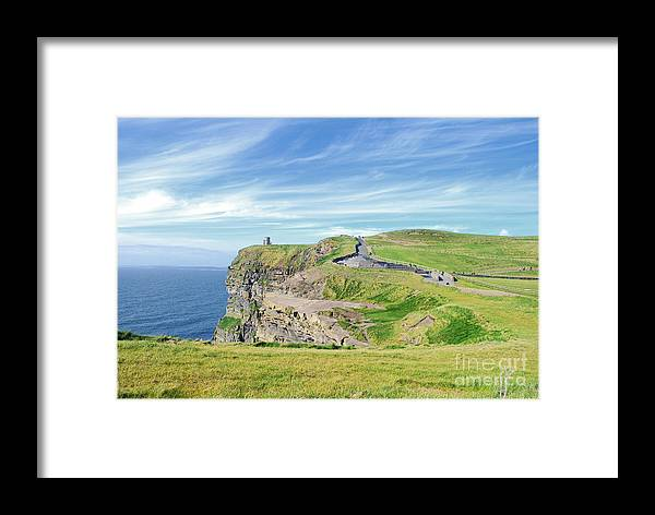 Ireland Framed Print featuring the photograph Cliffs Of Moher In Ireland by Birgit Tyrrell