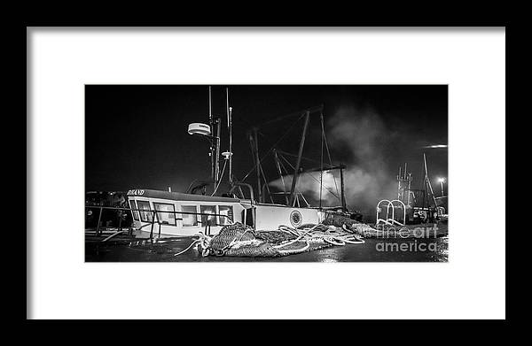 Port Seton Framed Print featuring the photograph Cockenzie Harbour by Keith Thorburn LRPS AFIAP CPAGB