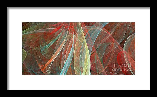 Paisley Framed Print featuring the digital art Colorful Figures by Odon Czintos