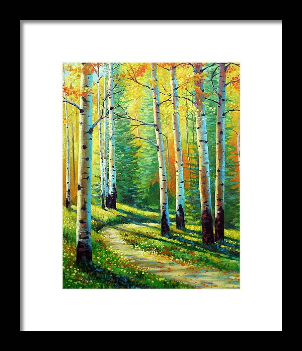 Landscape Framed Print featuring the painting Colors Of The Season by David G Paul