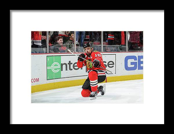 Patrick Sharp Framed Print featuring the photograph Dallas Stars V Chicago Blackhawks by Bill Smith