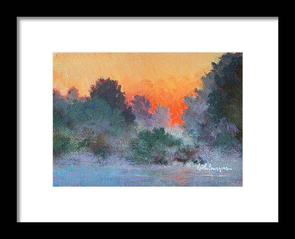 Impressionism Framed Print featuring the painting Dawn Mist by Keith Burgess