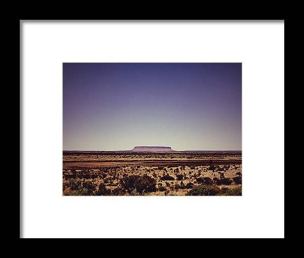 Desert Framed Print featuring the photograph Desert Monolith by Girish J