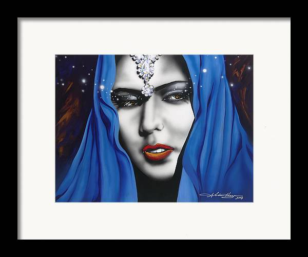 Women Framed Print featuring the painting Desert Moon by Alicia Hayes