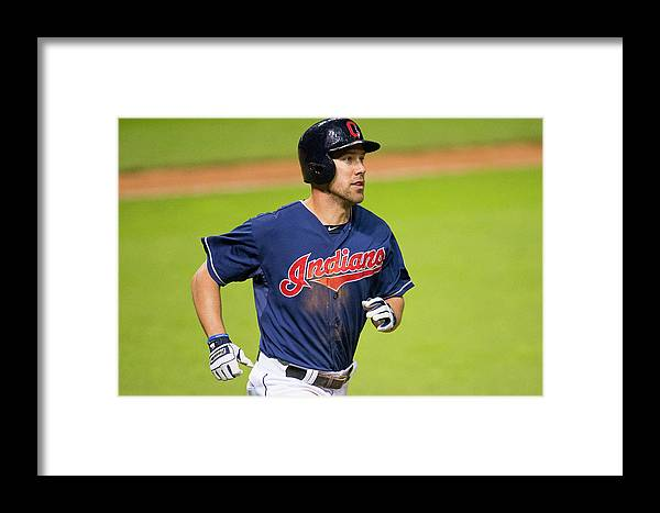 American League Baseball Framed Print featuring the photograph Detroit Tigers V Cleveland Indians 2 by Jason Miller