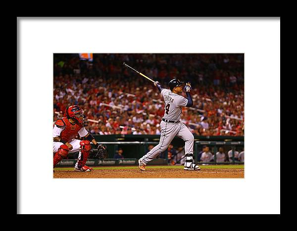 People Framed Print featuring the photograph Detroit Tigers V St Louis Cardinals 2 by Dilip Vishwanat