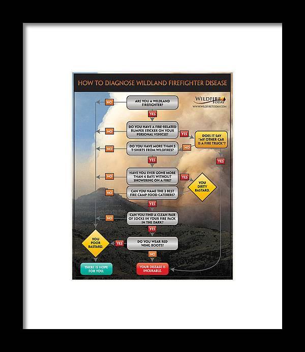 Fire Framed Print featuring the photograph Diagnosing Wildland Firefighter Disease by Bill Gabbert