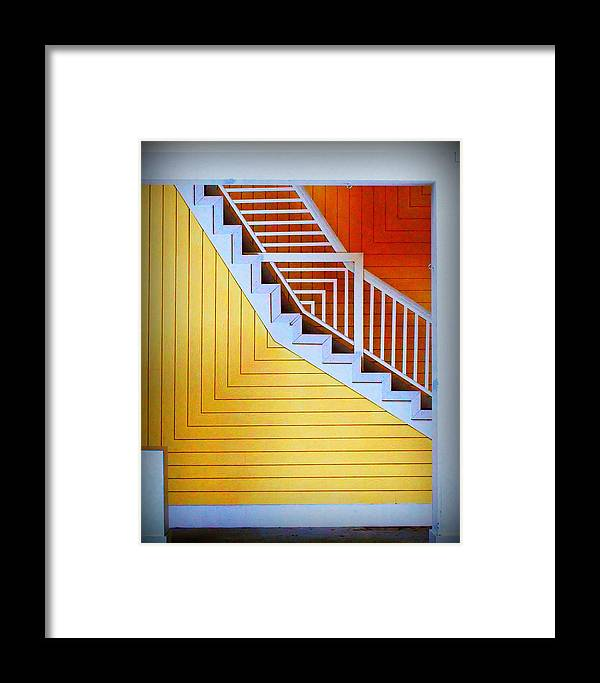 Distortion Framed Print featuring the photograph Distorted Stairs by Farol Tomson