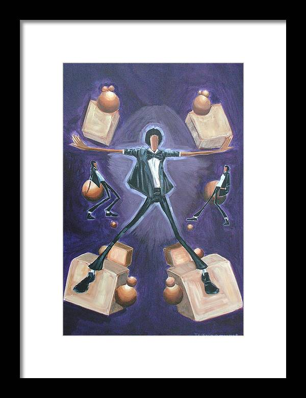 Michael Framed Print featuring the painting Don't Stop Till You Get Enough by Tu-Kwon Thomas