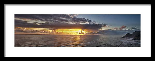 Sunset Framed Print featuring the photograph Drama After The Storm by Andrew Soundarajan