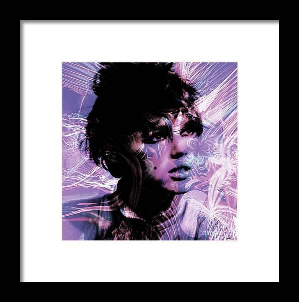 Edie Framed Print featuring the digital art Edie by Elizabeth McTaggart