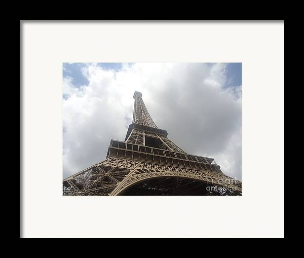 Visitor Attractions In Paris Framed Print featuring the photograph Eiffel Tower by Tashia Summers