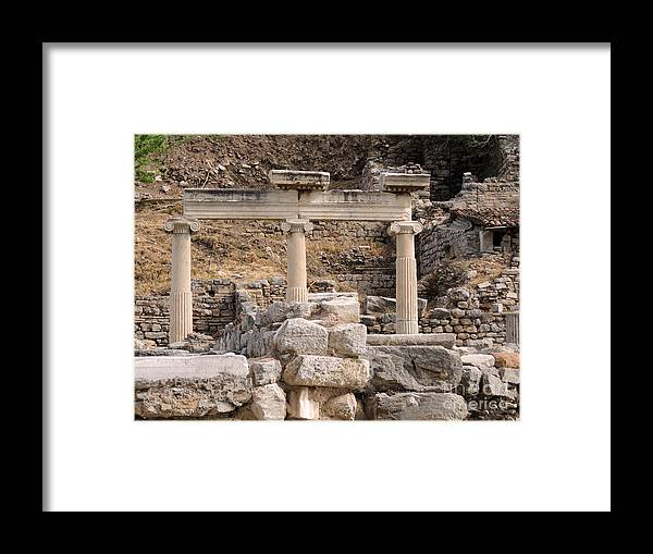 Pompeii Framed Print featuring the photograph Ephesus by Paul Sandilands