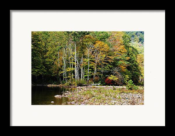Autumn Framed Print featuring the photograph Fall Color River by Thomas R Fletcher