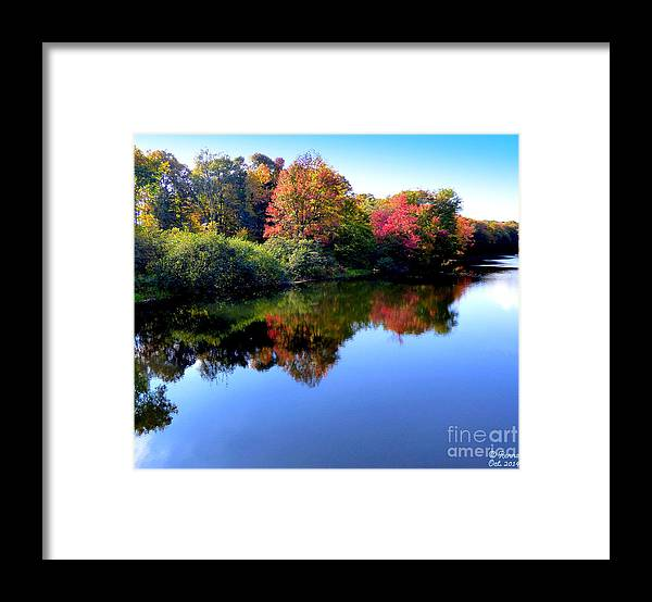 Landscape Framed Print featuring the photograph Fall Reflections by Rennae Christman