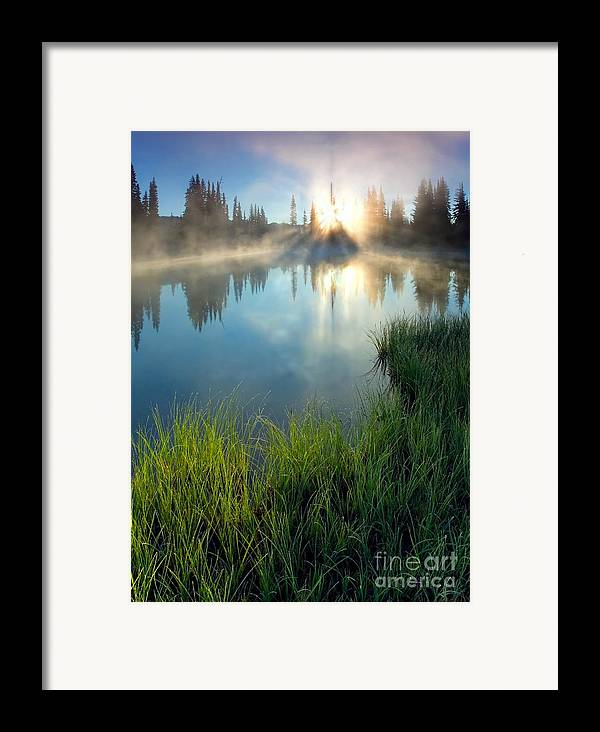 Fog Framed Print featuring the photograph First Light by Mike Dawson