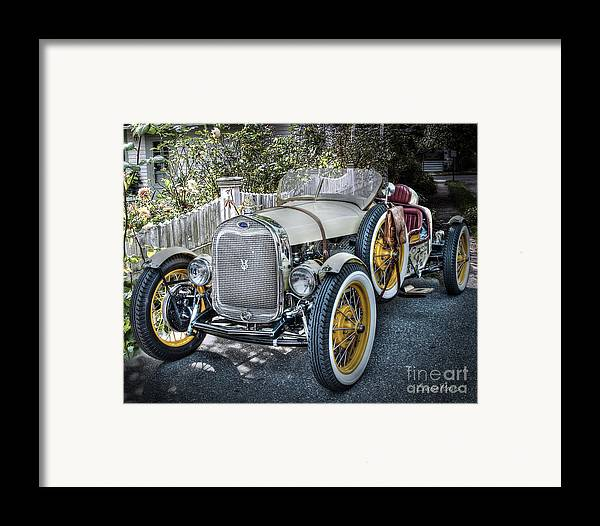 Ford Roadster Framed Print featuring the photograph Ford Roadster by Louise Reeves