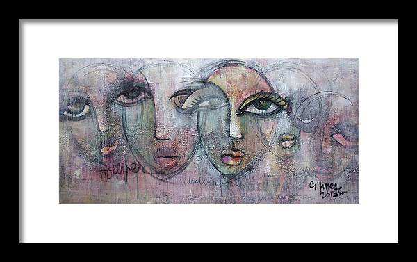 Love Framed Print featuring the painting Forever by Laurie Maves ART