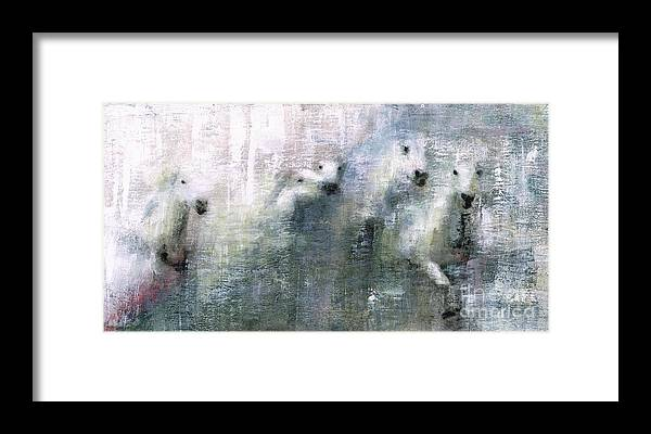 Framed Print featuring the painting Forty Shades Of Grey by Frances Marino
