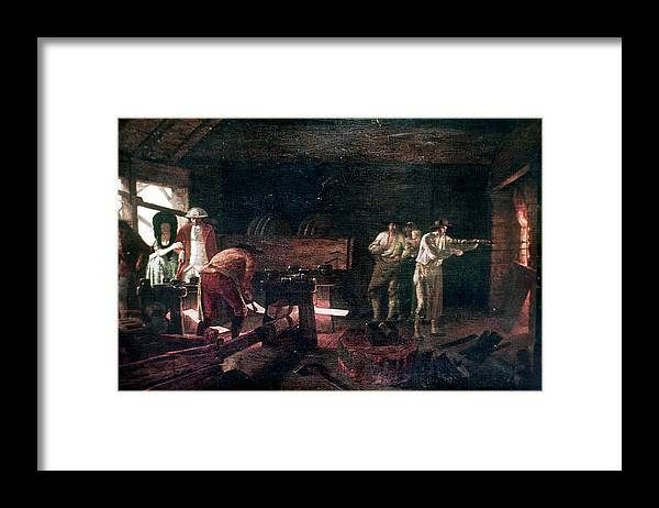 18th Century Framed Print featuring the painting Foundry, 18th Century by Granger